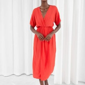 & Other Stories Twist Knot Dress